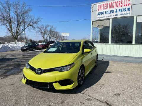 2016 Scion iM for sale at United Motors LLC in Saint Francis WI