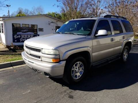 2004 Chevrolet Tahoe for sale at TR MOTORS in Gastonia NC