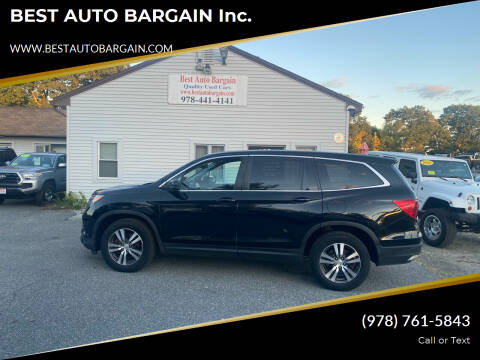 2016 Honda Pilot for sale at BEST AUTO BARGAIN inc. in Lowell MA