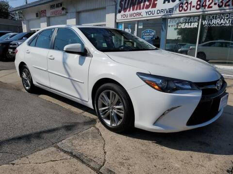 2017 Toyota Camry for sale at Sunrise Auto Outlet in Amityville NY