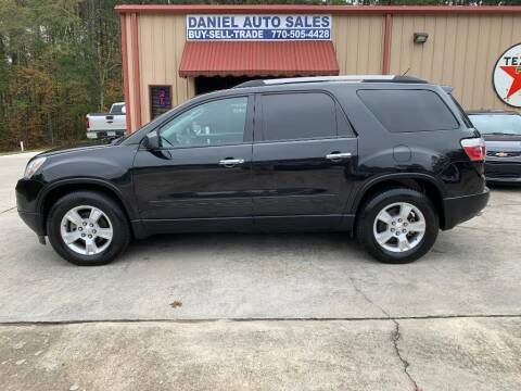 2011 GMC Acadia for sale at Daniel Used Auto Sales in Dallas GA