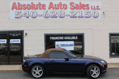 2008 Mazda MX-5 Miata for sale at Absolute Auto Sales in Fredericksburg VA