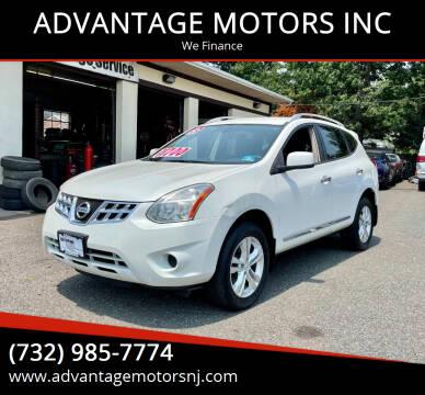 2013 Nissan Rogue for sale at ADVANTAGE MOTORS INC in Edison NJ
