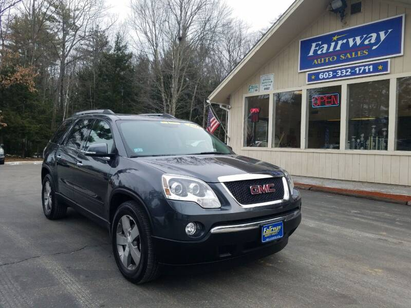 2012 GMC Acadia for sale at Fairway Auto Sales in Rochester NH