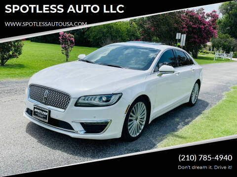 2017 Lincoln MKZ Hybrid for sale at SPOTLESS AUTO LLC in San Antonio TX
