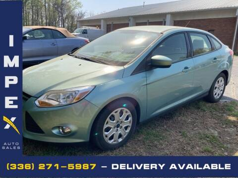 2012 Ford Focus for sale at Impex Auto Sales in Greensboro NC