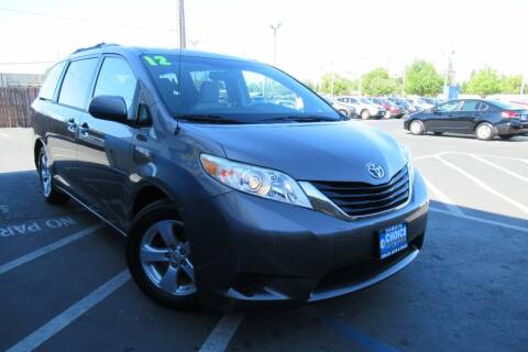 2012 Toyota Sienna for sale at Choice Auto & Truck in Sacramento CA