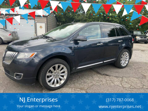 2013 Lincoln MKX for sale at NJ Enterprises in Indianapolis IN
