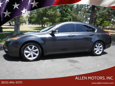2013 Acura TL for sale at Allen Motors, Inc. in Thousand Oaks CA