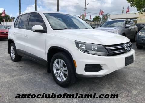 2014 Volkswagen Tiguan for sale at AUTO CLUB OF MIAMI, INC in Miami FL