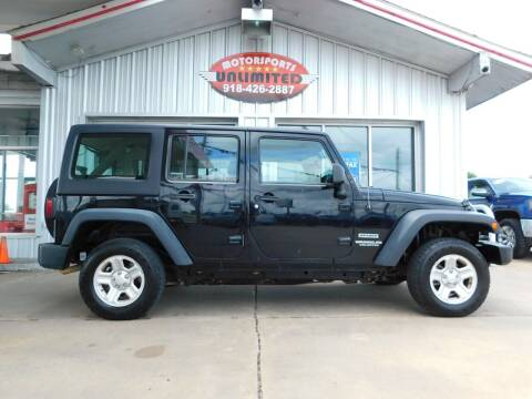2013 Jeep Wrangler Unlimited for sale at Motorsports Unlimited in McAlester OK