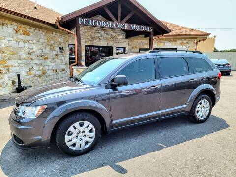 2018 Dodge Journey for sale at Performance Motors Killeen Second Chance in Killeen TX