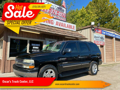 2002 Chevrolet Tahoe for sale at Oscar's Truck Center, LLC in Houston TX