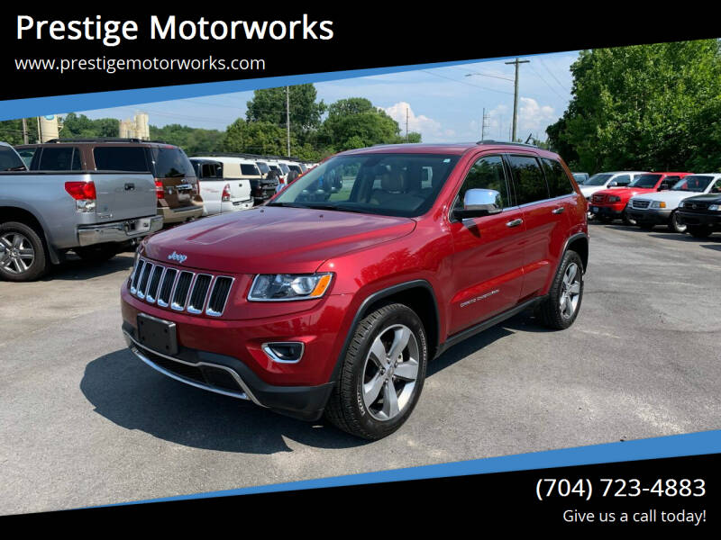 2014 Jeep Grand Cherokee for sale at Prestige Motorworks in Concord NC