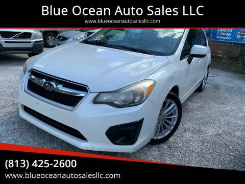 2013 Subaru Impreza for sale at Blue Ocean Auto Sales LLC in Tampa FL