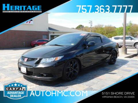 2013 Honda Civic for sale at Heritage Motor Company in Virginia Beach VA