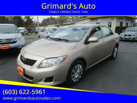 2010 Toyota Corolla for sale at Grimard's Auto in Hooksett, NH
