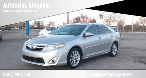 2013 Toyota Camry for sale at Autosales Kingdom in Lancaster CA