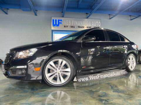 2015 Chevrolet Cruze for sale at Wes Financial Auto in Dearborn Heights MI