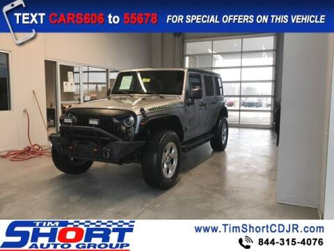 2016 Jeep Wrangler Unlimited for sale at Tim Short Chrysler in Morehead KY