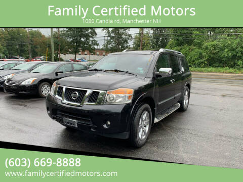 2011 Nissan Armada for sale at Family Certified Motors in Manchester NH
