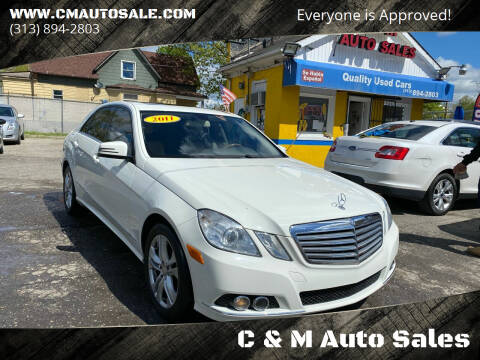 2011 Mercedes-Benz E-Class for sale at C & M Auto Sales in Detroit MI