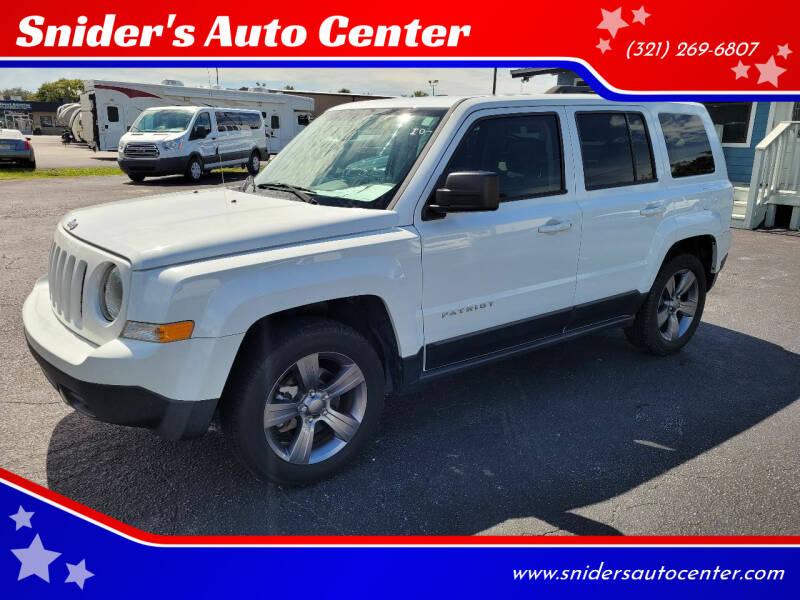 2015 Jeep Patriot for sale at Snider's Auto Center in Titusville FL