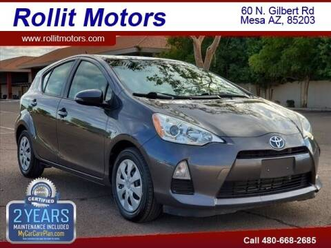 2014 Toyota Prius c for sale at Rollit Motors in Mesa AZ