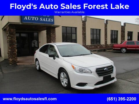 2016 Subaru Legacy for sale at Floyd's Auto Sales Forest Lake in Forest Lake MN