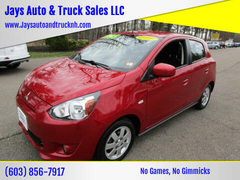 2014 Mitsubishi Mirage for sale at Jays Auto & Truck Sales LLC in Loudon NH