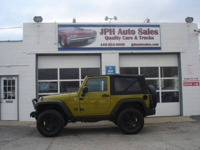2007 Jeep Wrangler for sale at JPH Auto Sales in Eastlake OH