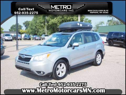 2015 Subaru Forester for sale at Metro Motorcars Inc in Hopkins MN