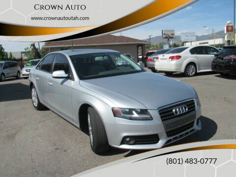 2010 Audi A4 for sale at Crown Auto in South Salt Lake City UT