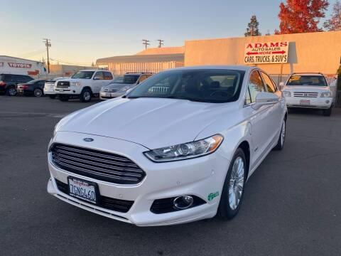 2014 Ford Fusion Energi for sale at Adams Auto Sales in Sacramento CA