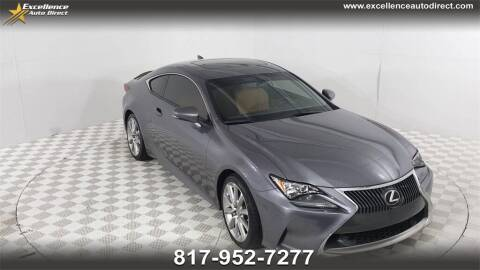 2015 Lexus RC 350 for sale at Excellence Auto Direct in Euless TX