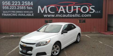 2014 Chevrolet Malibu for sale at MC Autos LLC in Pharr TX
