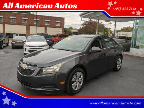 2013 Chevrolet Cruze for sale at All American Autos in Kingsport TN