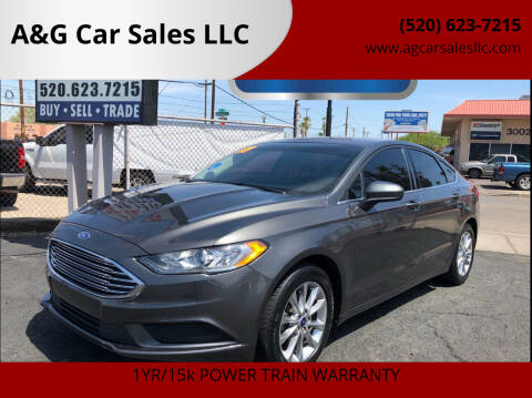 2017 Ford Fusion for sale at A&G Car Sales  LLC in Tucson AZ