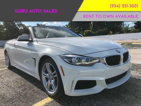 2018 BMW 4 Series for sale at Guru Auto Sales in Miramar FL