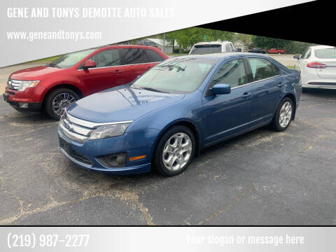 2010 Ford Fusion for sale at GENE AND TONYS DEMOTTE AUTO SALES in Demotte IN