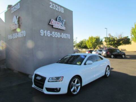 2009 Audi A5 for sale at LIONS AUTO SALES in Sacramento CA
