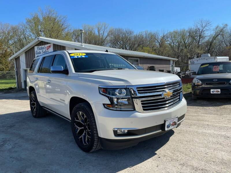2015 Chevrolet Tahoe for sale at Victor's Auto Sales Inc. in Indianola IA