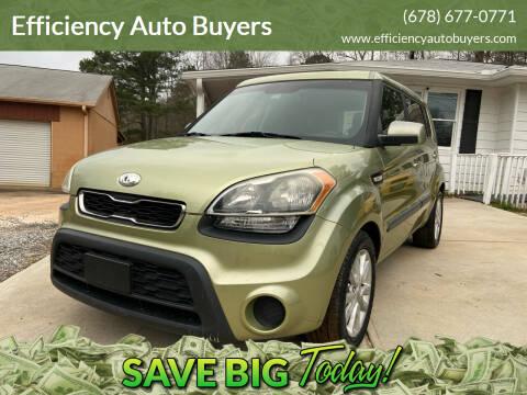 2013 Kia Soul for sale at Efficiency Auto Buyers in Milton GA