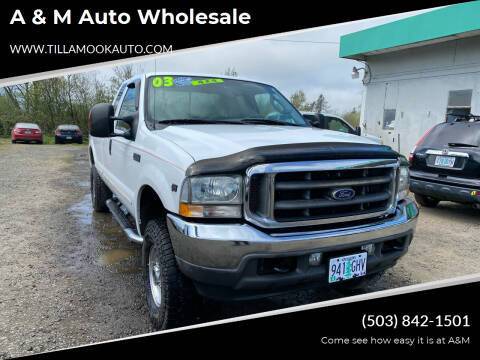 2003 Ford F-250 Super Duty for sale at A & M Auto Wholesale in Tillamook OR