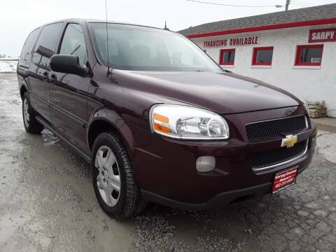 2006 Chevrolet Uplander for sale at Sarpy County Motors in Springfield NE