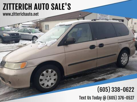 2001 Honda Odyssey for sale at ZITTERICH AUTO SALE'S in Sioux Falls SD