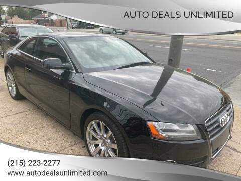 2011 Audi A5 for sale at AUTO DEALS UNLIMITED in Philadelphia PA