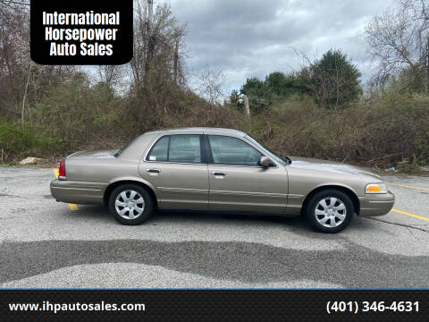 2001 Ford Crown Victoria for sale at International Horsepower Auto Sales in Warwick RI