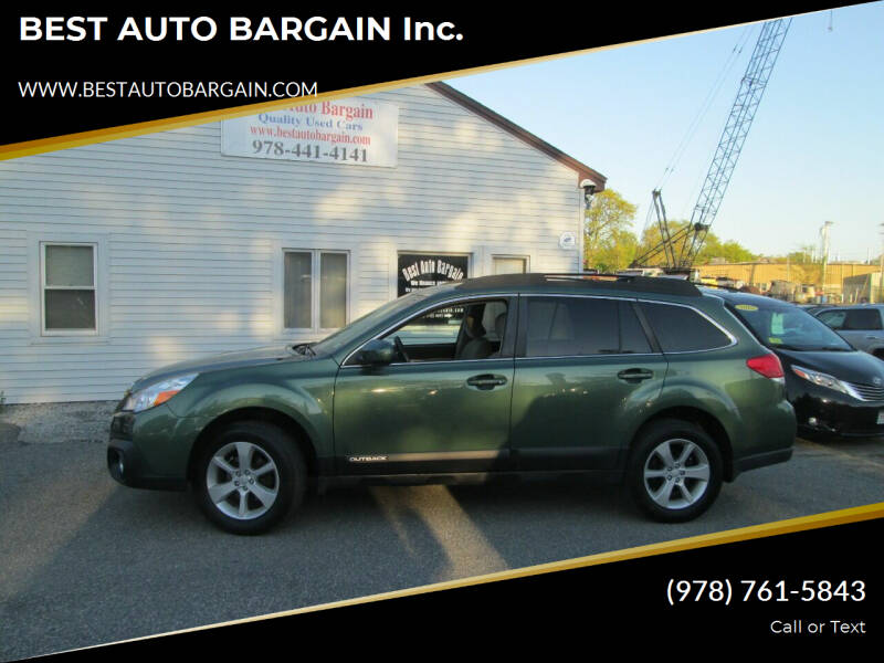 2013 Subaru Outback for sale at BEST AUTO BARGAIN inc. in Lowell MA