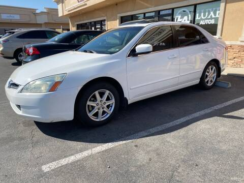 2003 Honda Accord for sale at LUXE Autos in Las Vegas NV